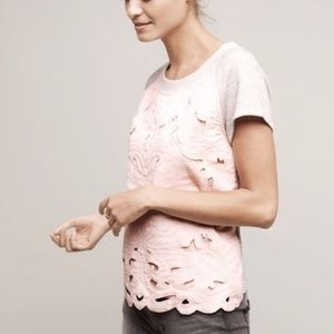 Anthropologie Saturday Sunday Floral Cutout Top